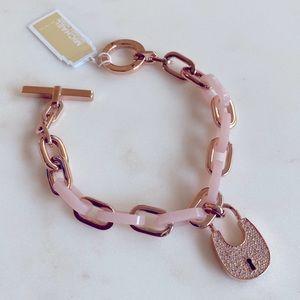 Michael Kors Heritage Padlock Rose Gold Bracelet